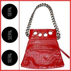 *RARE* Seril Mini Knockout Bag Red Patent Leather